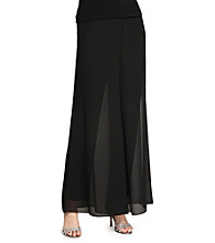 Alex Evenings® Matte Jersey Pant with Georgette Overlay