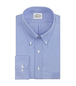 Eagle® Men's Blue Crystal Big & Tall Long Sleeve Striped Dress Shirt