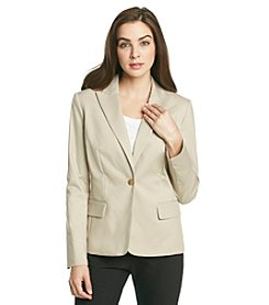 Calvin Klein Petites' One Button Suit Jacket