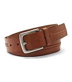 Fossil® Men's Tan Stitched Leather Belt