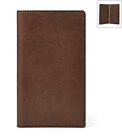 Fossil® Men's Ingram Leather Executive Checkbook Wallet