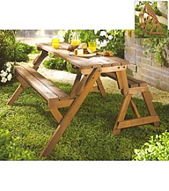 Merry Products, Corp. Interchangeable Picnic Table and Garden Bench