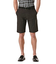 Perry Ellis® Men's Black Tonal Circular Printed Flatfront Short