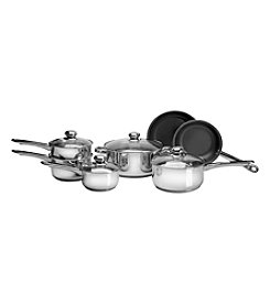 Ragalta 11-pc. Stainless Steel Cookware Set with Eclipse Non-Stick Fry Pans