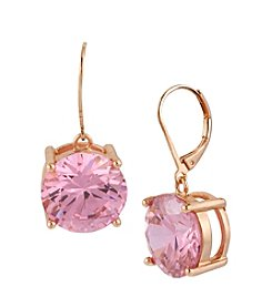 Betsey Johnson® Large Pink Crystal Drop Earrings