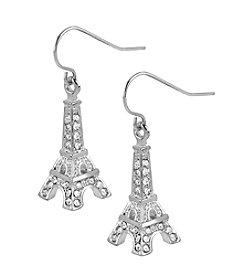 Betsey Johnson® Crystal Eiffel Tower Drop Earrings