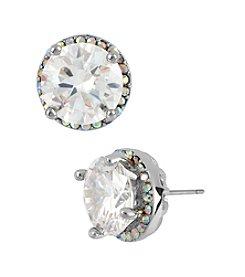Betsey Johnson® Crystal Round Stud Earrings