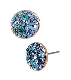 Betsey Johnson® Blue Multi Crystal Stud Earrings