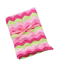 Cuddle Bear® Baby Girls' Pink Knit Chevron Blanket
