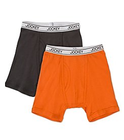 Jockey® Boys' Grey/Orange 2-pk. Boxer Briefs