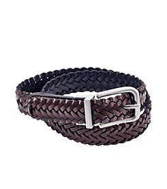 Statements Boys' Brown Braided Woven Belt