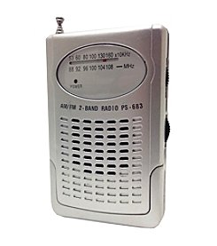 Supersonic Compact AM/FM Pocket Radio with Built-In Speaker