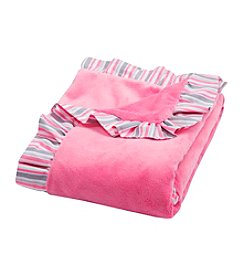 Trend Lab Lily Ruffle Trimmed Receiving Blanket