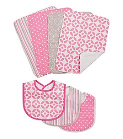 Trend Lab 7-pc. Lily Bib and Burp Cloth Set