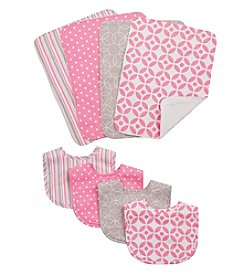 Trend Lab 8-pc. Lily Bib and Burp Cloth Set