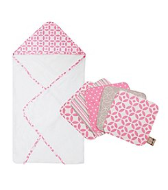 Trend Lab 6-pc. Lily Hooded Towel and Wash Cloth Set