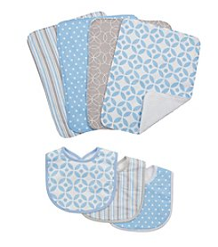 Trend Lab 7-pc. Logan Bib and Burb Cloth Set