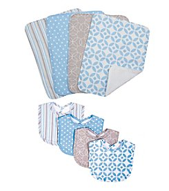 Trend Lab 8-pc. Logan Bib and Burp Cloth Set