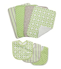 Trend Lab 7-pc. Lauren Bib and Burp Cloth Set
