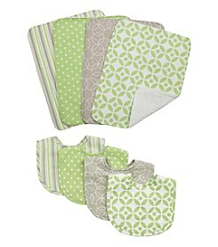 Trend Lab 8-pc. Lauren Bib and Burp Cloth Set