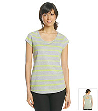Exertek Striped Open Back Tee