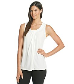 Anne Klein® Sleeveless Asymmetrical Pleat Cami