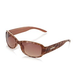 Nine West® Tokyo Tortoise Small Plastic Rectangle Sunglasses