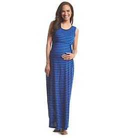 Three Seasons Maternity™ Sleeveless Stripe Maxi Dress