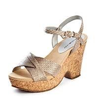 "Bandolino® ""Dreamaker"" Cork Wedge Sandals"