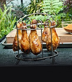 Charcoal Companion® Stainless Drumstick and Wing Grilling Rack