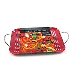 Charcoal Companion® Nonstick Red Rectangle Grid with Wire Handles
