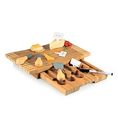 Picnic Time® Concavo Bamboo Cutting Board and Cheese Tool Set