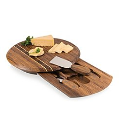 Picnic Time® Pressato Cutting Board with Drawer and Cheese Tool Set