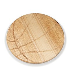 Picnic Time® Free Throw Basketball Shaped Cutting Board