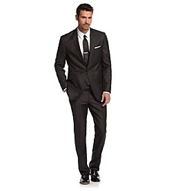 Kenneth Cole REACTION® Men's Charcoal Pin Dot Slim-Fit Suit Separates