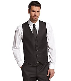 Kenneth Cole REACTION® Men's Charcoal Pin Dot Suit Separate Slim-Fit Vest