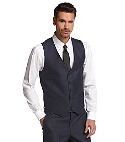 Kenneth Cole REACTION® Men's Modern Blue Solid Suit Separate Vest