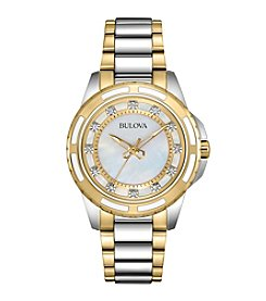Bulova® Two-Tone Watch with Diamond Markers