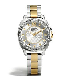 COACH SMALL BOYFRIEND TWO TONE BRACELET WATCH