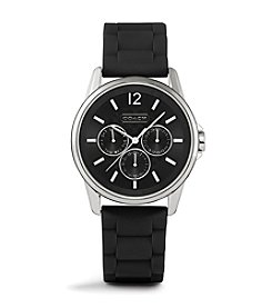COACH SIGNATURE BLACK RUBBER STRAP WATCH