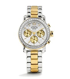 COACH TWO TONE LEGACY SPORT CHRONO WATCH