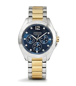 COACH TWO TONE TRISTEN NAVY DIAL WATCH