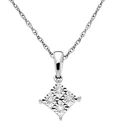 0.04 ct. t.w. Diamond Pendant Necklace in 10K White Gold