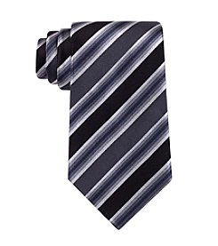 Kenneth Cole REACTION® Black 'Tony' Striped Silk Tie