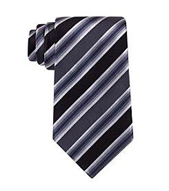 Kenneth Cole REACTION® Black 'Tony' Striped Silk Tie