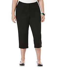 Rafaella® Plus Size Double Weave Slim Capri