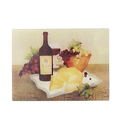LivingQuarters Wine and Cheese Glass Cutting Board
