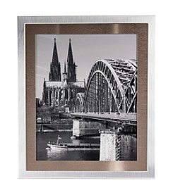 MKT@Home Bonn Silver with Metal Mat Picture Frame