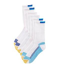 GOLD TOE® AquaFX® Marl Sport Crew Socks Three-Pack