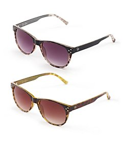 Jessica Simpson Animal Retro Square Sunglasses